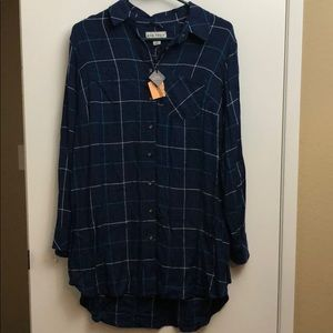Plus siZe women's Flannel Shirt